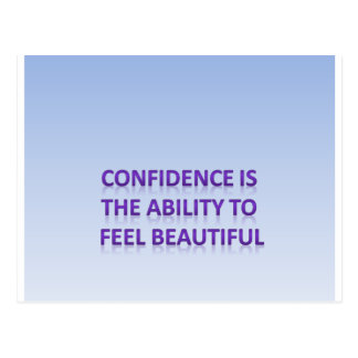 Vertrauen ist die Fähigkeit, sich schön zu fühlen Postkarte