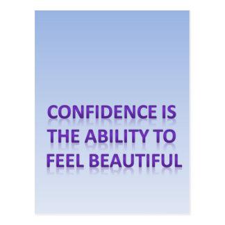 Vertrauen ist die Fähigkeit, sich schön zu fühlen Postkarten
