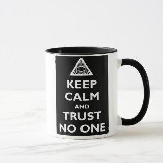 Vertrauen niemand tasse