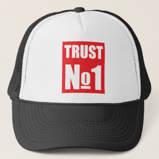 Vertrauen niemand truckerkappe