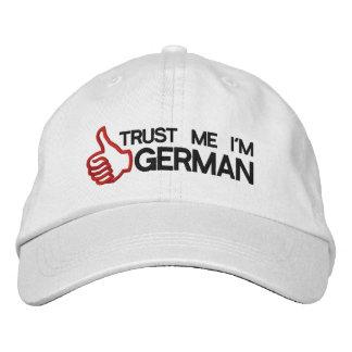Vertrauen Sie, dass ich ich Deutscher gestickte Bestickte Baseballkappe