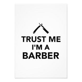 Vertrauen Sie dass ich ich ein Friseur bin Ankündigungskarte