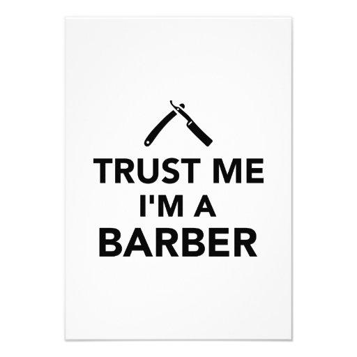 Vertrauen Sie, dass ich ich ein Friseur bin Ankündigungskarte