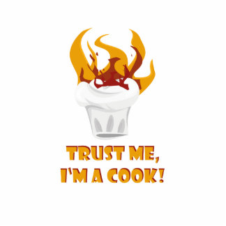 Vertrauen Sie, dass ich ich ein Koch bin! Fotoskulptur Magnet