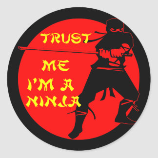 Vertrauen Sie, dass ich ich ein Ninja Runder Aufkleber