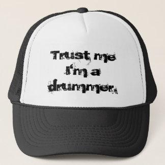 Vertrauen Sie, dass ich ich ein Schlagzeuger bin Truckerkappe