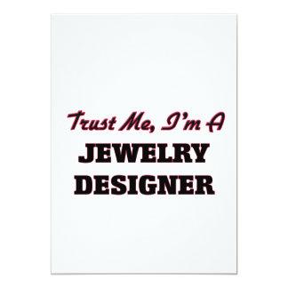 Vertrauen Sie, dass ich ich ein Schmuck-Designer Personalisierte Ankündigungskarten