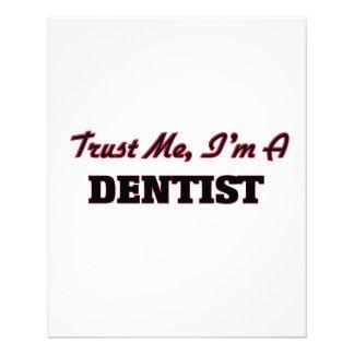 Vertrauen Sie, dass ich ich ein Zahnarzt bin Individuelle Flyer