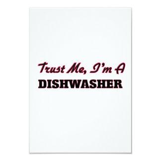 Vertrauen Sie, dass ich ich eine Spülmaschine bin Individuelle Ankündigungskarte