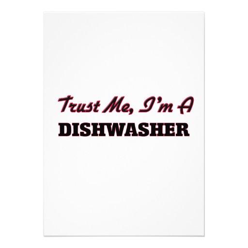 Vertrauen Sie, dass ich ich eine Spülmaschine bin Einladung