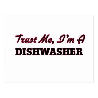 Vertrauen Sie, dass ich ich eine Spülmaschine bin Postkarte