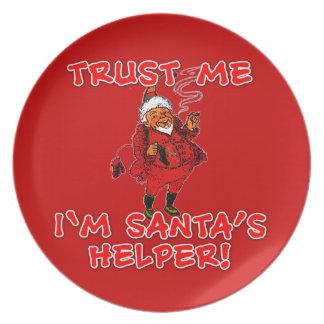 Vertrauen Sie, dass ich ich Sankt Helfer-lustiges Flache Teller