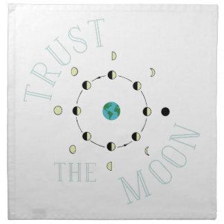 Vertrauen Sie dem Mond Serviette