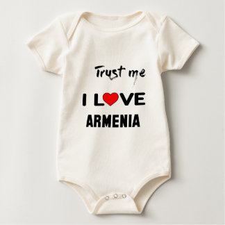 Vertrauen Sie mir i-Liebe Armenien Baby Strampler