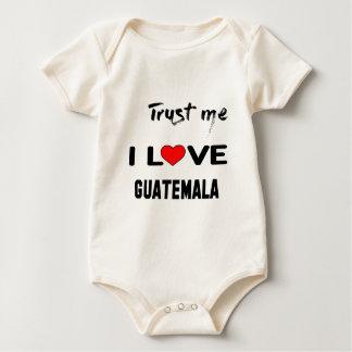 Vertrauen Sie mir i-Liebe Guatemala Baby Strampler