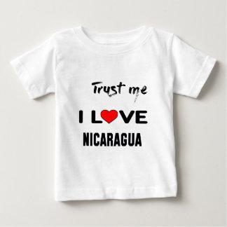 Vertrauen Sie mir i-Liebe Nicaragua Baby T-shirt