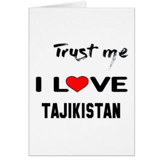 Vertrauen Sie mir i-Liebe Tadschikistan Karte