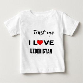 Vertrauen Sie mir i-Liebe Usbekistan Baby T-shirt