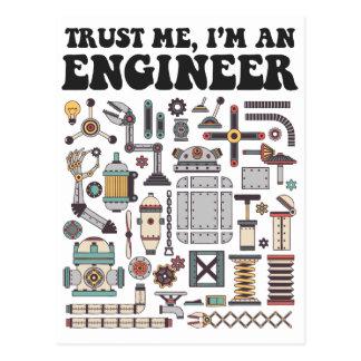 Vertrauen Sie mir, ich sind ein Ingenieur Postkarte