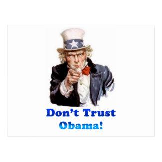 Vertrauen Sie nicht Obama Postkarte