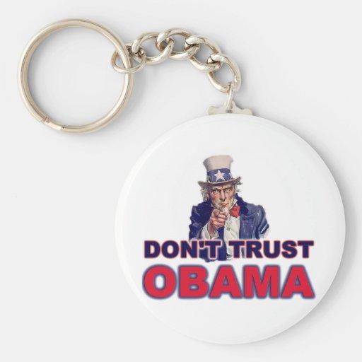 Vertrauen Sie nicht Obama Standard Runder Schlüsselanhänger