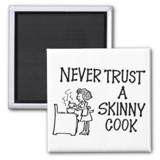 Vertrauen Sie nie einem dünnen Koch-Magneten Quadratischer Magnet