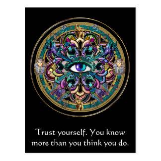 Vertrauen Sie sich ~ die Augen der WeltMandala Postkarte