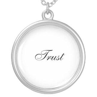 Vertrauen Versilberte Kette