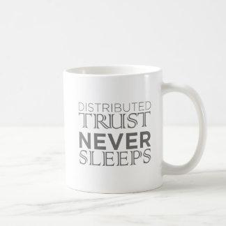 Vertrauen: Verteiltes Vertrauen schläft nie Kaffeetasse