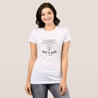 Vertrauens-Gott durch Spurgeon Zitat-T - Shirt