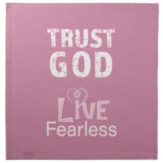 Vertrauens-Gott-furchtlose christliche Serviette