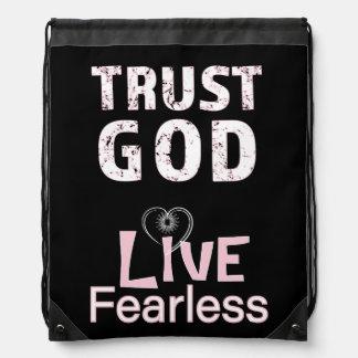 Vertrauens-Gott-furchtlose christliche Sportbeutel