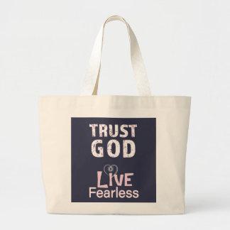 Vertrauens-Gott-furchtlose lebhaftTasche sackt Jumbo Stoffbeutel