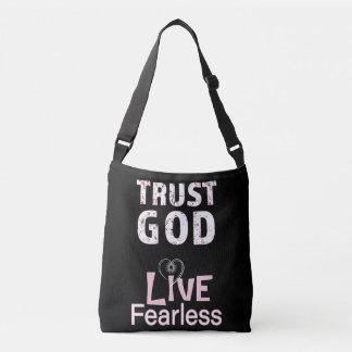 Vertrauens-Gott-furchtlose Tragetaschen Mit Langen Trägern