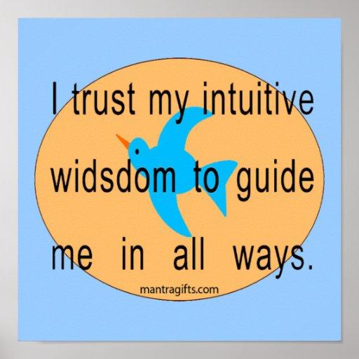 Vertrauens-Intuitions-motivierend Plakat