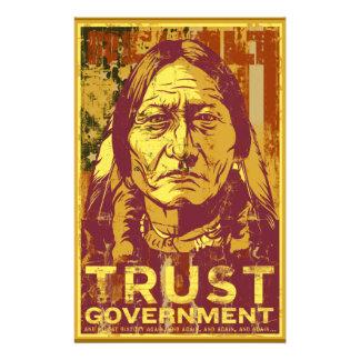 Vertrauens-Regierungs-Sitting- BullFlyer Flyerdesign