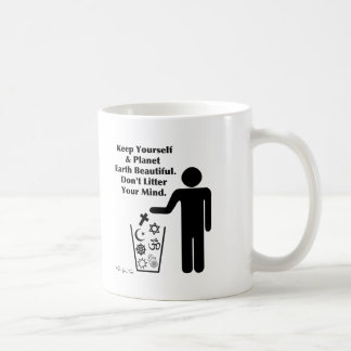 Verunreinigen Sie nicht Ihren Verstand Kaffeetasse