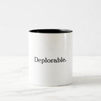 Verurteilungswürdige Kaffee-Tasse Zweifarbige Tasse