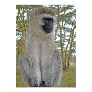 Vervet Affe Personalisierte Einladungskarte