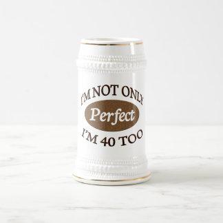 Vervollkommnen Sie 40 Jährige Bierglas