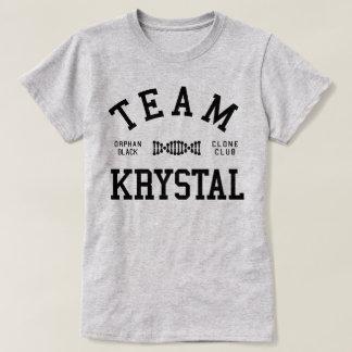 Verwaistes schwarzes Team Krystal T-Shirt