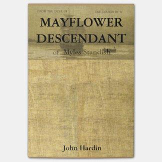 Verwandter von Mayflower Nachkommen Myles Standish Post-it Klebezettel