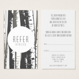 verweisen Sie Bäume einer Freundespe Visitenkarte