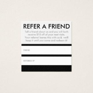 verweisen Sie ein Freundquadrat Quadratische Visitenkarte