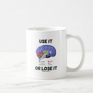 Verwenden Sie es oder verlieren Sie es Kaffeetasse