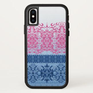 Verwickelte Lilie in rosa und blauem starkem X iPhone X Hülle