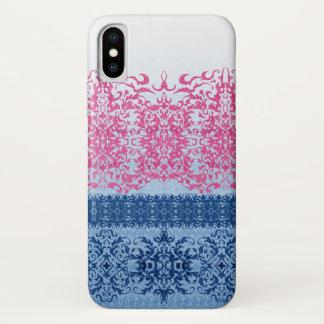 Verwickelte Lilie in rosa und im Blau kaum iPhone X Hülle