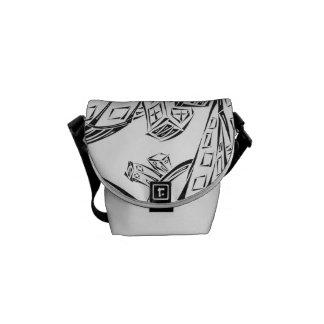 Verwickelte Stadt-Bote-Tasche Kuriertaschen
