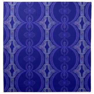Verwickeltes Königsblau-Muster Stoffserviette
