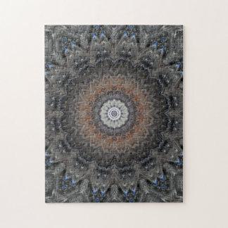 Verwickeltes Silber, Rost u. blaue Mandala Jigsaw Puzzles